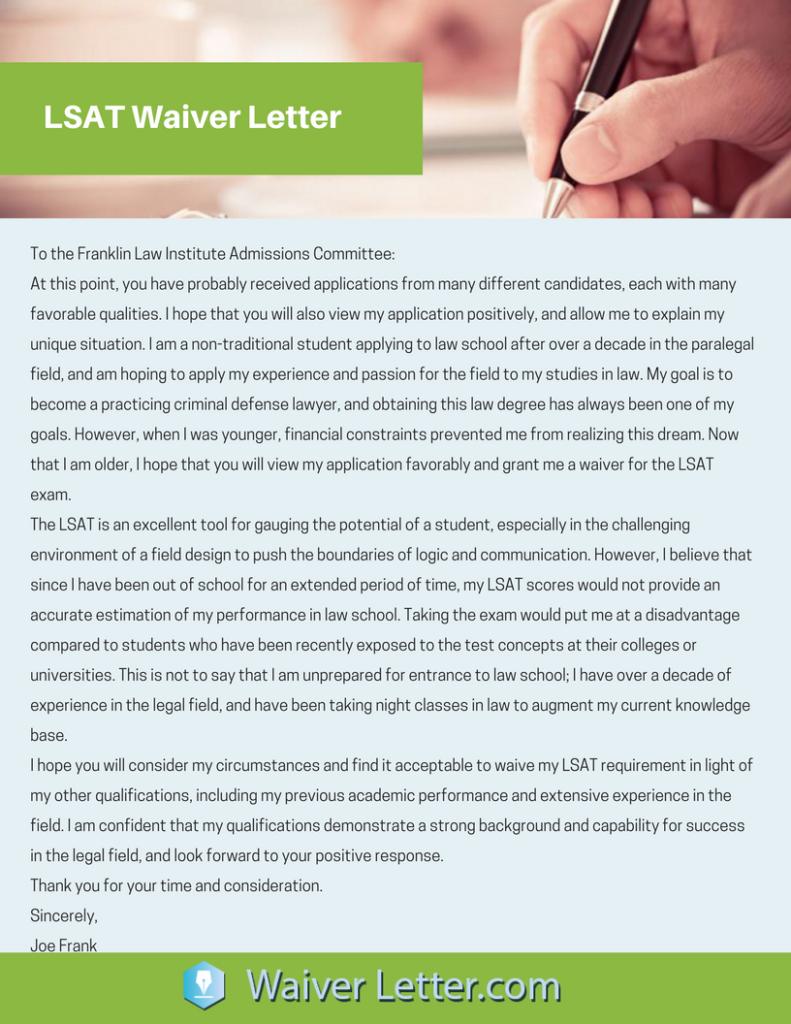 lsat-waiver-letter-sample