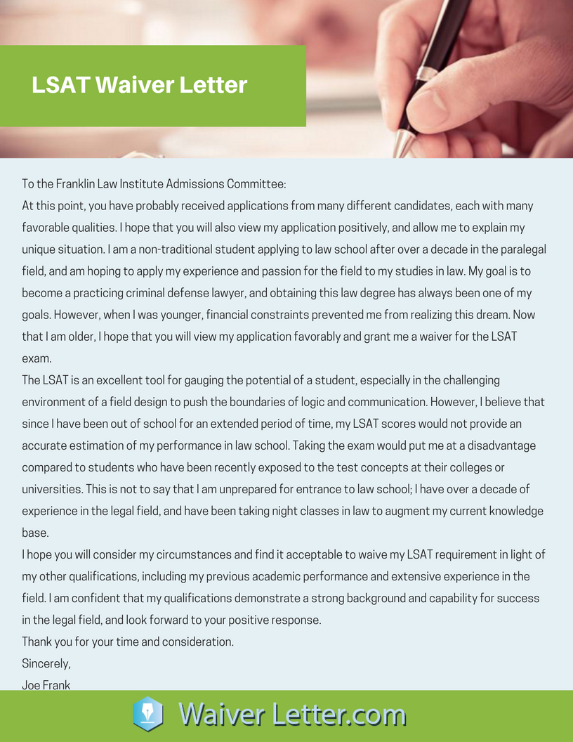 How To Write A Great Lsat Waiver Request Letter