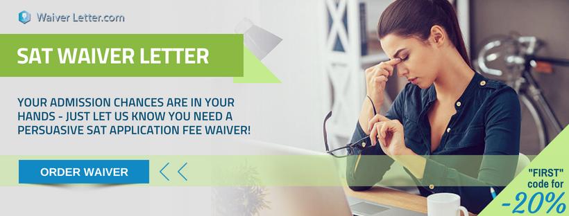 sat application fee waiver writing help