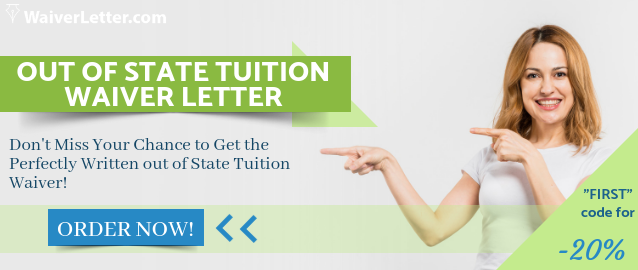 writing out of state tuition waiver